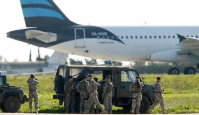 Libyan plane hijacked and diverted to Malta by Pro Gaddafi hijackers