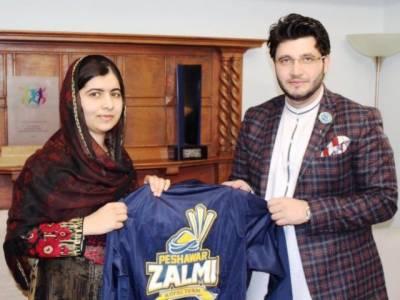 PSL: Malala supports Peshawar Zalmi