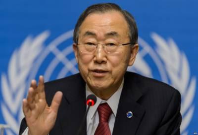 Ban Ki-Moon urges Pakistan-India to resolve conflicts through dialogue