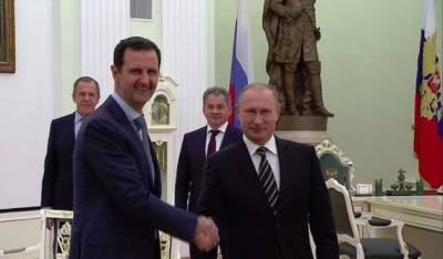 Condolence letter to Putin from Bashar Al Assad