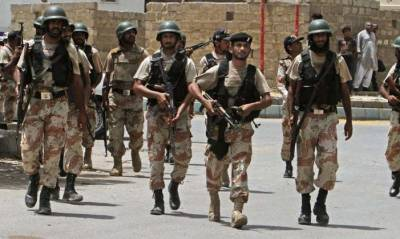Rangers' raids in Karachi, 5 criminals detained