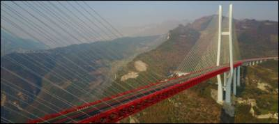 China opens world's highest bridge