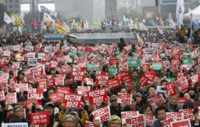 South Koreans rally to demand impeached Park's removal in 2017