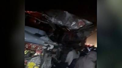 Accident at Kandhkot road, 6 dead, 22 injured