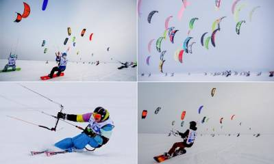 Colorful snowkiting competition in Russia (Pics)