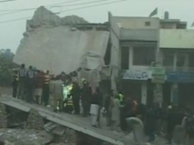 Multan building collapse leave two dead, several injured