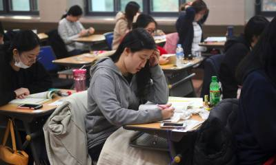 South Korea grounds planes, changes business hours to maintain pin-drop silence during exam