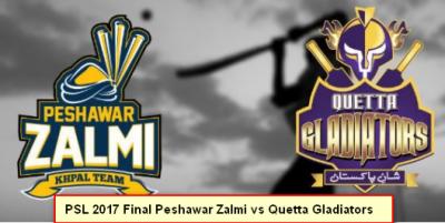 PSL 2017: Quetta Gladiators vs Peshawar Zalmi final match today