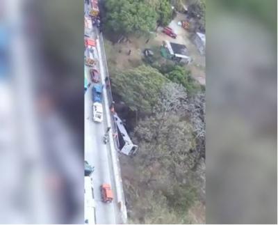 18 killed, 37 injured in Panama in bus crash