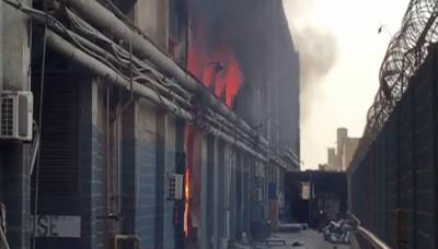 Year's prolonged fire in Landhi factory area