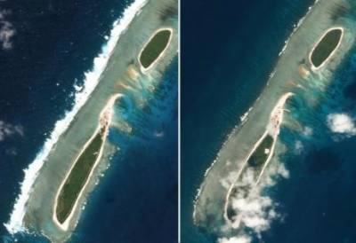 China starts construction on disputed South China Sea Island