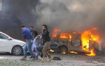 Twin Suicide blasts at Damascus leave dozen dead