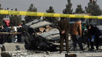 1 soldier killed, dozens injured as car bomb hits army base in Afghanistan
