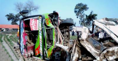1 killed, dozens injured in road accident