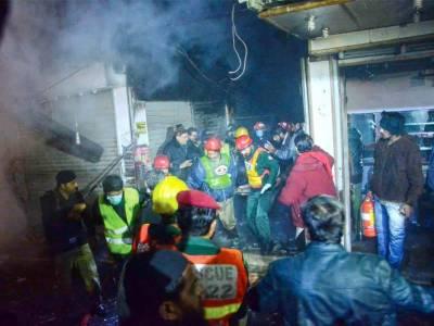 Lahore: Fire erupts in Antalkali bazaar