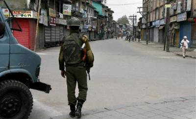 Complete shutdown in Indian-occupied Kashmir on Modi's visit