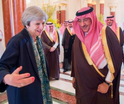 UK PM May refuses to wear headscarf during meeting with Saudi Crown Prince