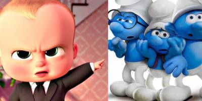 'Boss Baby' beats up on 'Smurfs
