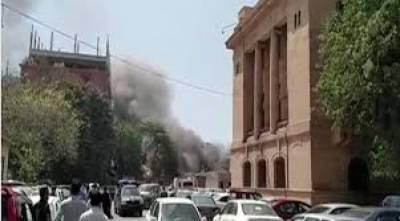 Blaze near Sindh Assembly extinguished