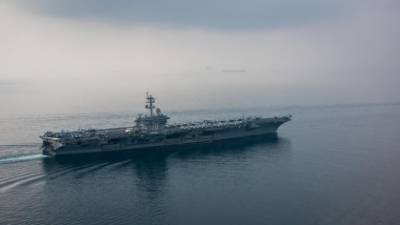 Japanese destroyers join U.S. carrier for drills