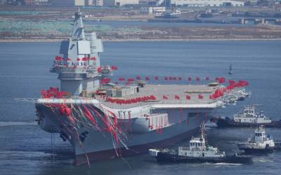 China unveils first domestically built aircraft carrier