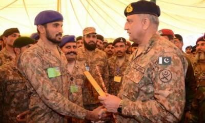 COAS Bajwa visit to Hyderabad Garrison