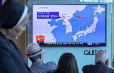 Missile fired by North Korea lands in sea near Russia