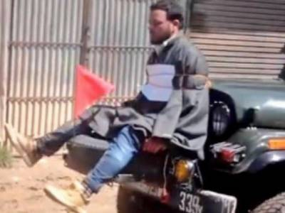Indian officer who tied Kashmiri youth to jeep gets 'clean chit'