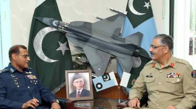 CJCSC General Zubair meets air chief over PAF's modernisation programmes