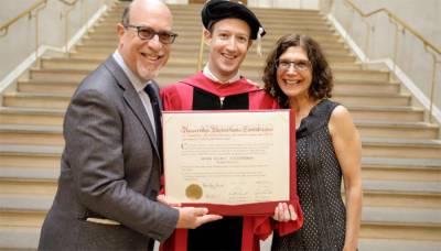 Zuckerberg gets honorary degree from Harvard University