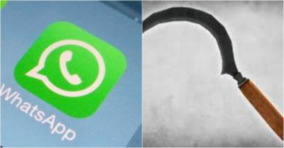 Woman attacks husband with sickle for checking her WhatsApp