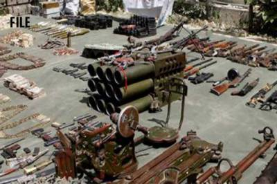 FC recovers huge cache of weapons from Khyber Agency areas