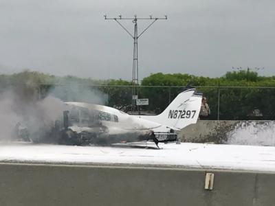 Plane crashes on 405 freeway in orange country