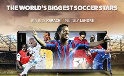International soccer stars arrive in Pakistan today