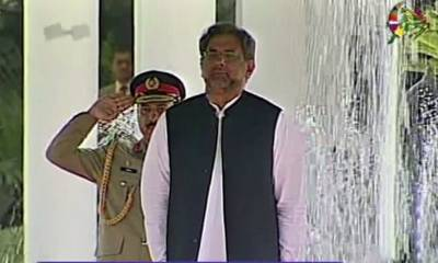 PM Abbasi receives guard of honour at PM House