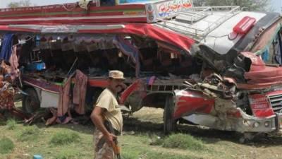 Five killed, 15 injured in road mishap near Faisalabad