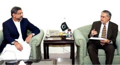 Shahid Khaqan Abbasi sacks Ishaq Dar, takes charge as ECC chairman