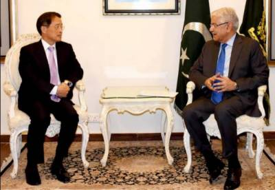 US envoy David Hale briefs Khawaja Asif on Trump's statement