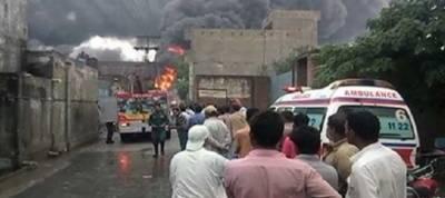 Gujranwala factory fire extinguished after 8 hours struggle