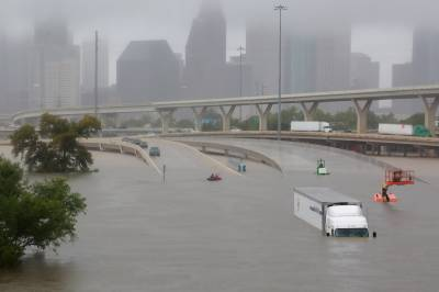 Houston crippled by catastrophic flooding with more rain