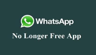 Now 'WhatsApp' no longer free app