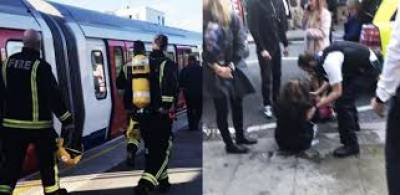 Blast reported on London underground train