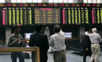 KSE-100 index gains 54 points on first day of week