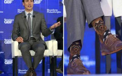 Trudeau sparks Star Wars/Star Trek spat with Chewbacca socks