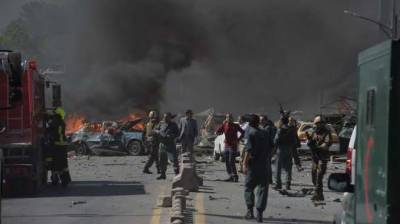 Suicide car bomb kills at least 12 Afghan police