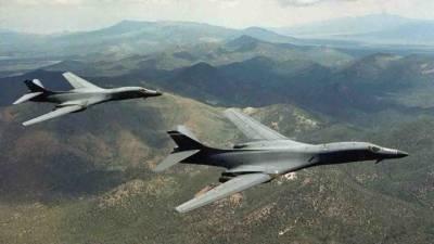 American bombers overfly Korea peninsula