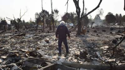 California wildfires kill at least 31 as wind continues to fan flames