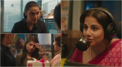 Watch: Vidya Balan's transformation to late night RJ