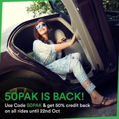 Careem's new promotion, '50PAK is BACK'