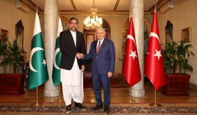 PM Abbasi, Turkish counterpart agree to boost bilateral relations